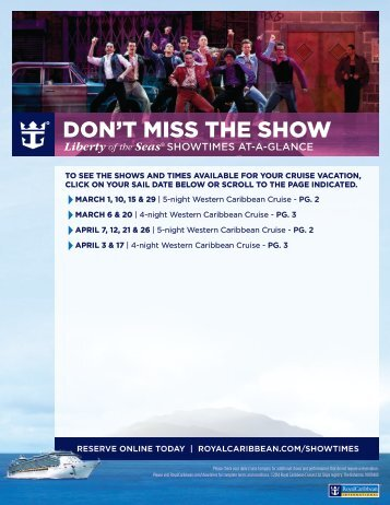 DON'T MISS THE SHOW. - Royal Caribbean International