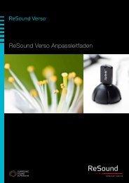 ReSound Verso Anpassleitfaden - GN ReSound