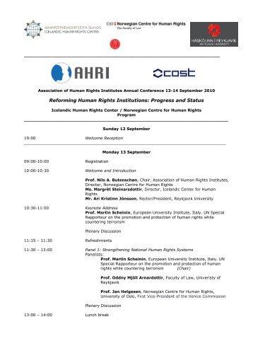11th AHRI Annual Conference: Program (PDF)