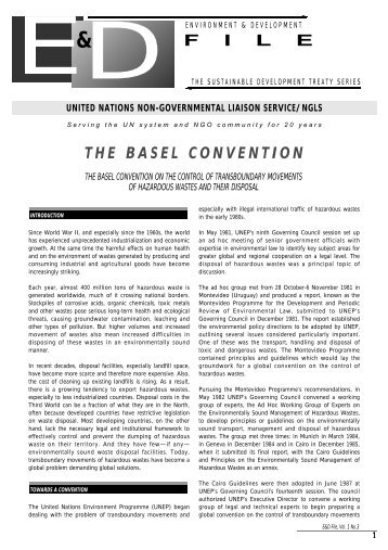 The Basel Convention - NGLS