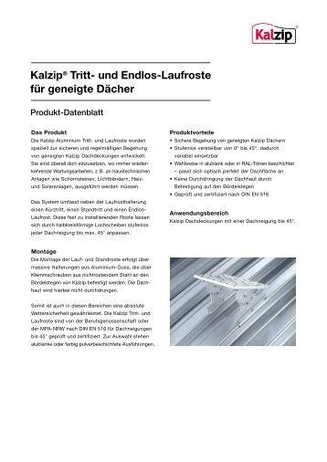 Kalzip® Tritt- und Endlos-Laufroste für geneigte Dächer