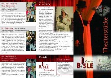 Prospekt (PDF) - Claus Bisle Theaterstücke