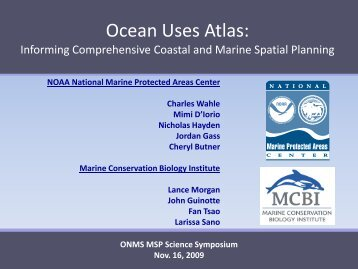 Ocean Uses Atlas - National Marine Sanctuaries - NOAA