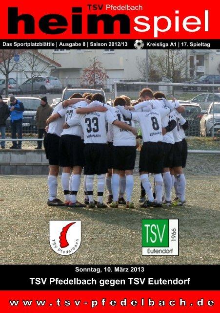 8. Heft gegen TSV Eutendorf 10.03.2013 - TSV Pfedelbach