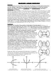 Relationen / Lineare Funktionen Relationen / Lineare Funktionen