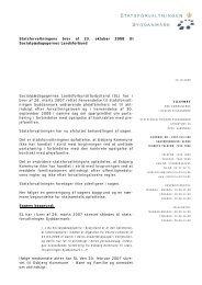 Udtalelse til SL - plejefamiliekontrakt - Statsforvaltningen