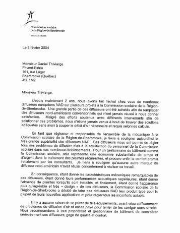 Monsieur Daniel Thivierge - NAD Klima