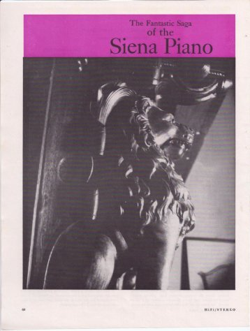 The Siena Piano - efemera