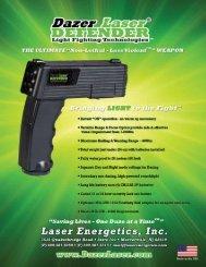 Dazer Laser DEFENDER Spec Card 052511 - Laser Energetics
