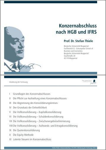 Kapitel I: Grundlagen des Konzernabschlusses - Prof. Dr. Stefan ...