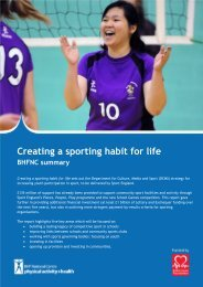 Creating a sporting habit for life - BHF National Centre - physical ...