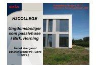 Opførte passive ungdomsboliger i Herning - Eco - building Club