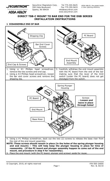 3200 series tamper switch mounting instructions