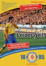 Heft 02: Jahn Regensburg - FanPresse Braunschweig