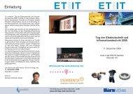 ET IT2009 ET IT2009 - Tag der Elektrotechnik und ...