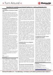 Newsletter der Turnabteilung von Eintracht Frankfurt e