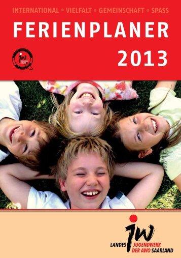 FERIENPLANER 2013 - Jugendreisen Jugendwerk