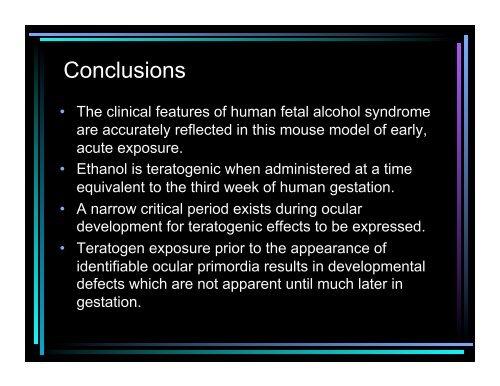 Teratogen-Induced Eye Malformations