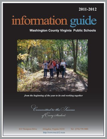 2011-2012 information guide - Washington County Public Schools