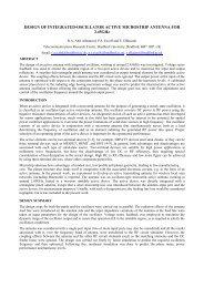 design of integrated-oscillator active microstrip antenna for - URSI
