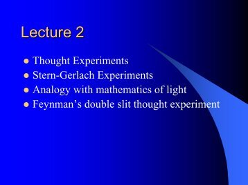 EP-307 Introduction to Quantum Mechanics