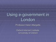 Using E-government in London - Government on the Web