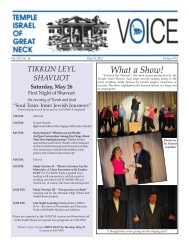 May 10 - Temple Israel of Great Neck