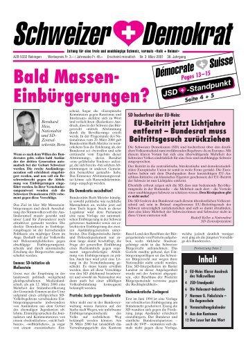 JSD - Schweizer Demokraten SD