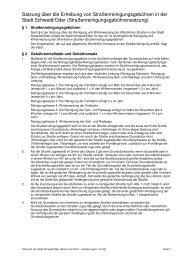 Satzung zur Erhebung von ... - Stadt Schwedt/Oder