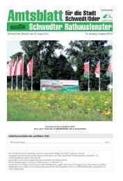 Amtsblatt 8/2010 vom 25. August 2010 (PDF - Stadt Schwedt/Oder