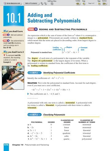 operations with polynomials worksheet pdf