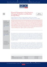 Financial Integration in the Americas, Changing ... - Universia