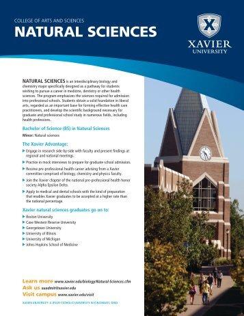 NATURAL SCIENCES - Xavier University