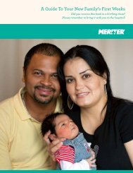 A Guide To Your New Family's First Weeks - Meriter Health Services