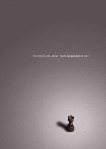 Investment AB Latour (publ) Annual Report 2007
