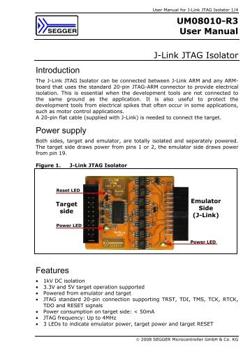 UM08010-R3 User Manual - SEGGER Microcontroller