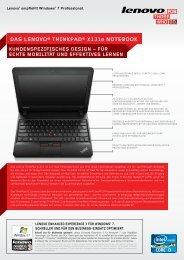 DAS LENOVO® THINKPAD® X131e NOTEBOOK - REDNET AG