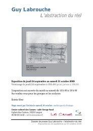 Guy Labrouche L'abstraction du réel - Centre Culturel des Carmes