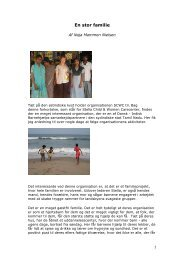 En stor familie - Dansk - Indisk Børnehjælp