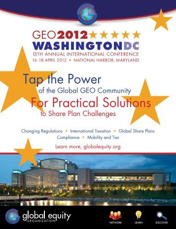 Tap the Power For Practical Solutions - GEO