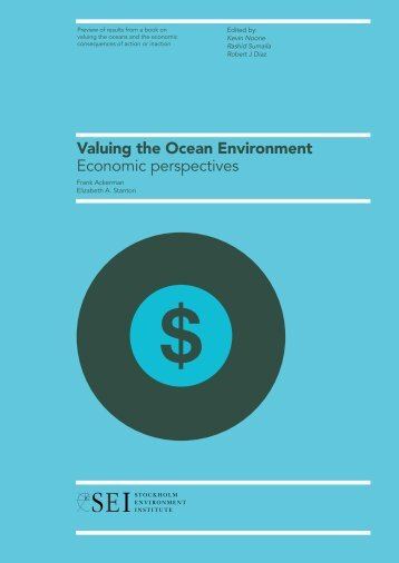 Valuing the Ocean Environment: Economic perspectives (Preview)