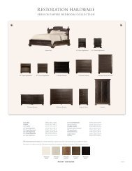 FRENCH EMPIRE BEDROOM COLLECTION - Restoration Hardware