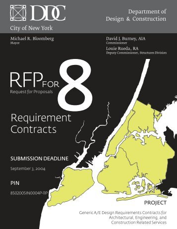 Generic A/E Design Requirements Contracts for Architectural ...