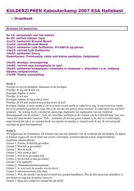 KULDERZIPKEN Kabouterkamp 2007 KSA ... - KSJ - KSA - Vksj