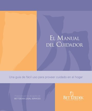 EL MANUAL DEL CUIDADOR - Bet Tzedek