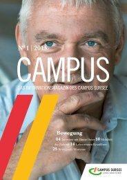 N0 1 | 2013 - CAMPUS SURSEE Seminarzentrum AG