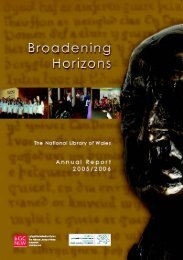 Broadening Horizons - NLW Annual Report 2005 - 2006