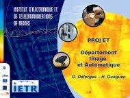Département Image et Automatique - IETR