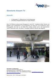 Standorte Airport TV Ankunft - Flughafen Wien