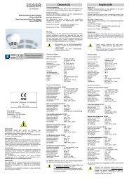 Betriebsanleitung Brandmelder Serie 9100(PDM) - ESSER by ...